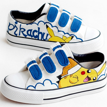 Children's New Hand-painted Canvas Shoes Boys And Girls Cart