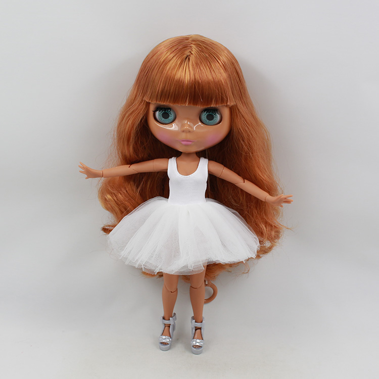 ФОТО Blyth nude doll 30cm fashion boneca cabelos longos bronze wig boneca negra limited edition dolls toys for children girls