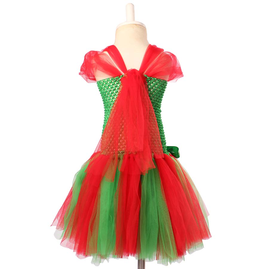 ec6a9e55ecaf Christmas Costumes for Girls Baby Girl Holiday Dresses Fashion Kids  Festival clothing Children Red Green Santa Claus Dress TS142