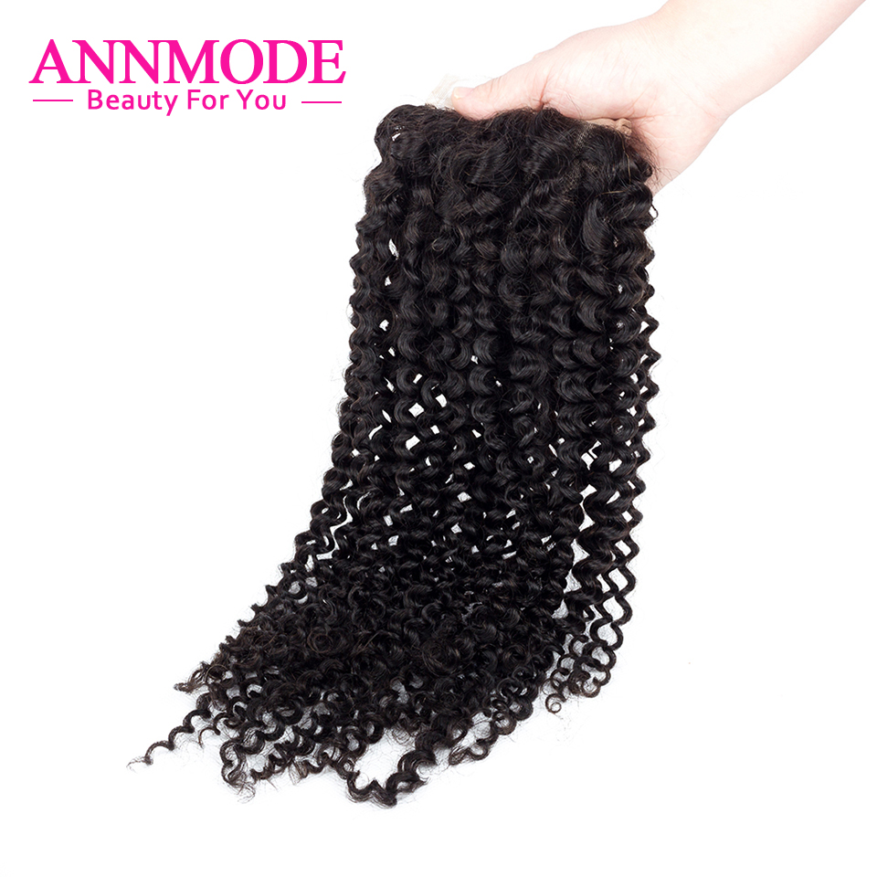 Where to buy hair closures - Order 1 Piece Annmode Human Hair Lace Closure Brazilian Kinky Curly Hair 4 4 Free Part Free Shipping