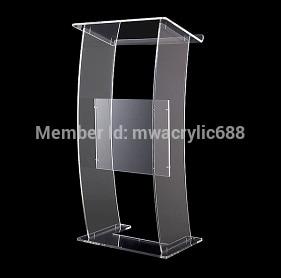 Free Shipping Modern Design Cheap Transparent Clear Acrylic Lectern podim