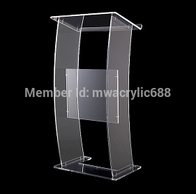 Free Shipping Modern Design Cheap Transparent Clear Acrylic Lectern  Podium
