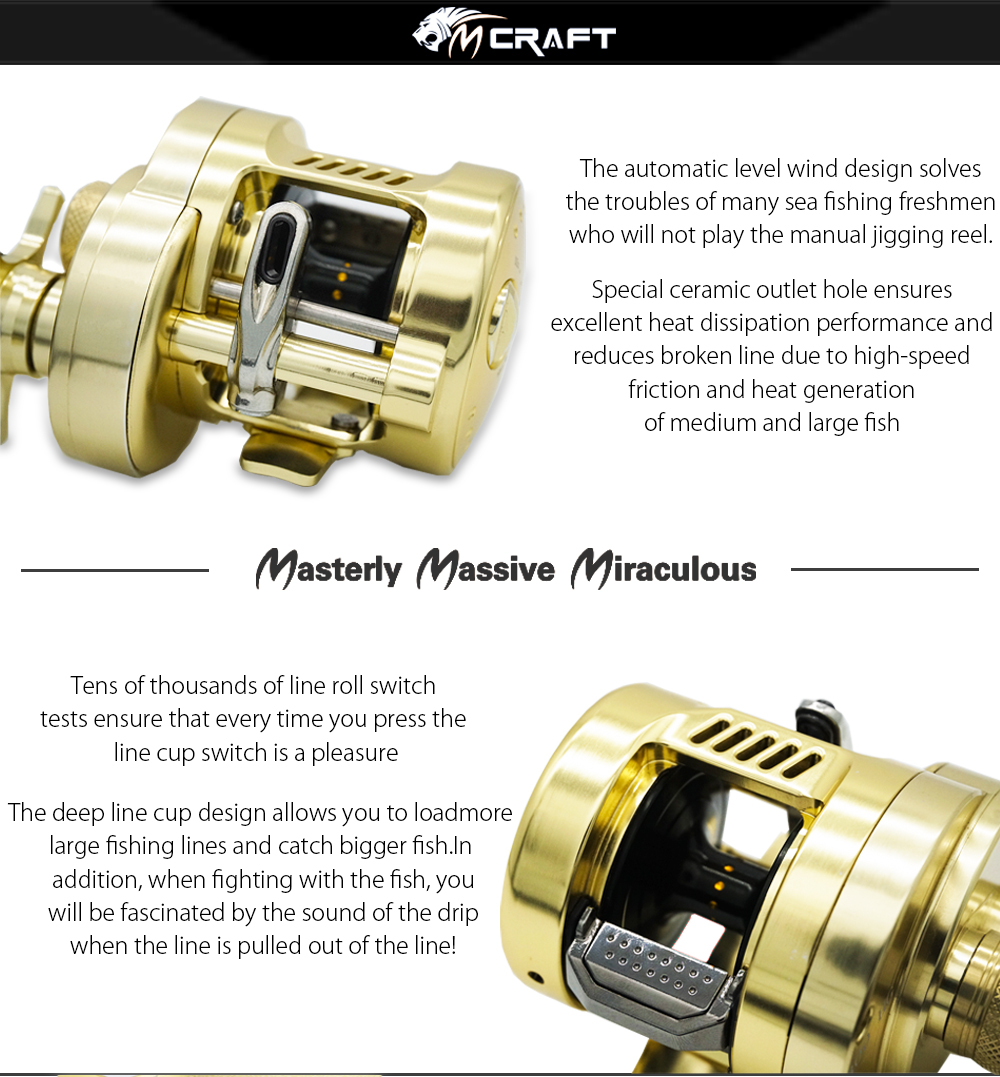 Saltwater Reel Full HG300G 4