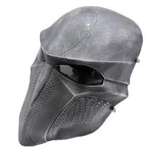 Смерть страшный призрак череп металлическая сетка Полный уход за кожей лица защитный тактический Пейнтбол Airsoft Хэллоуин CS Cospay скелет маска