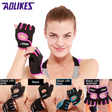 AOLIKES 1 Pair Brand Multifunction Fitness Sport Gloves Gym Half Finger Weightlifting Gloves Exercise Training cheap Weight Lifting Glove A-1678