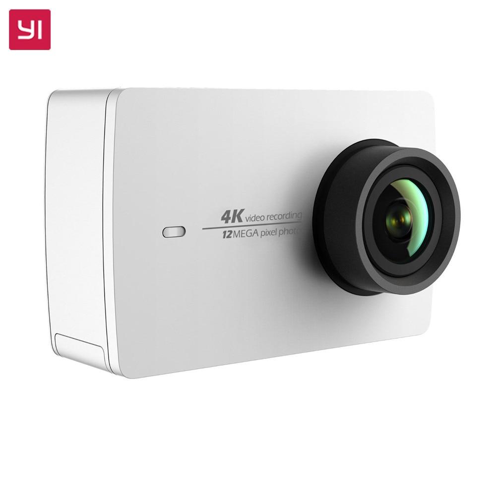 YI 4K Action Camera White International Version Ambarella A9SE75 IMX377 Sensor 12MP CMOS 2.19 LCD Screen EIS WIFI yi 4k action camera black 2 19lcd screen 155 degree eis wifi international edition ambarella a9se75 12mp cmos 5ghz wi fi