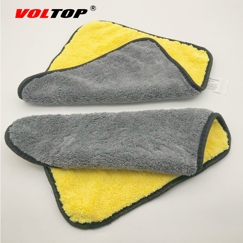 Image 2 - 30x30cm Thicker Car Wash Cloths Cleaning Tool Car Accessories Super Absorp Water Microfiber Towel Universal Auto Home Office-in Sponges, Cloths & Brushes from Automobiles & Motorcycles