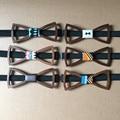 La más nueva manera hecha a mano pura buena madera pajarita masculina ocio de los hombres pajaritas Lazo de Mariposa de madera de madera 10 unids envío gratis