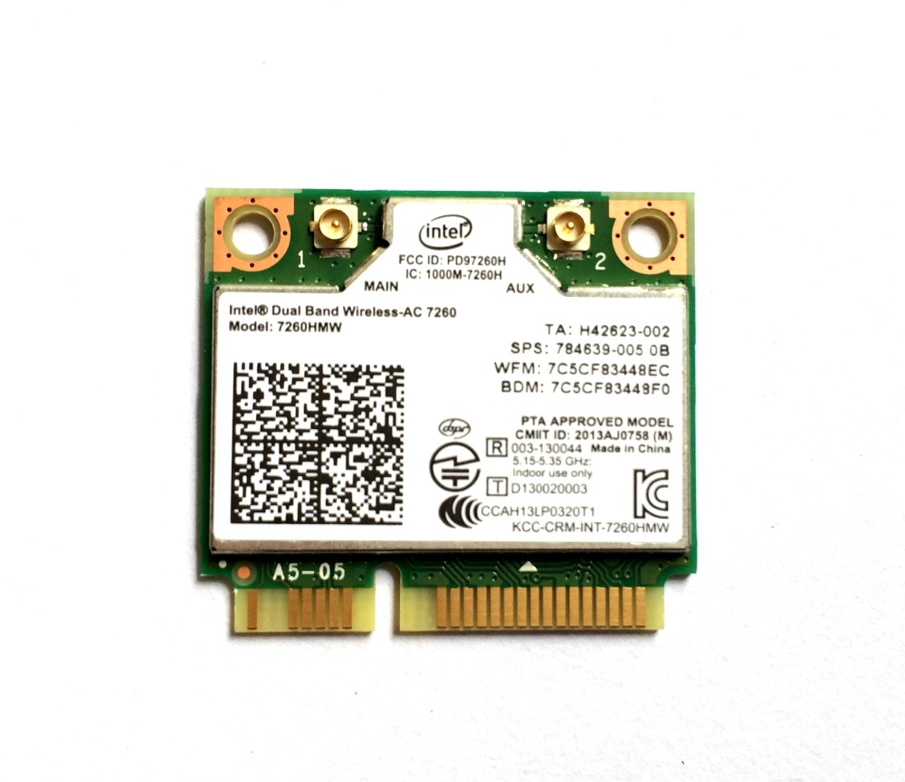 Intel Dual Band Wireless 7260 Intel7260 7260AC 7260HMW