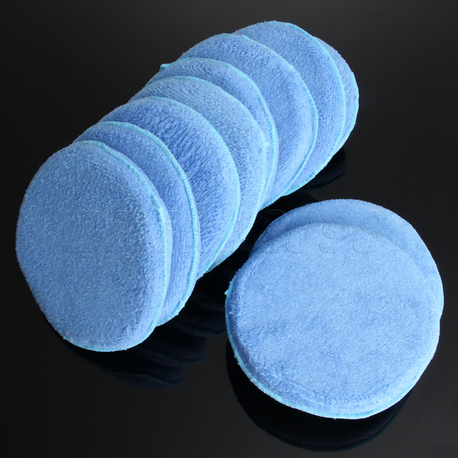 Yetaha 10Pcs 6 Inch 150mm Soft Microfiber Car Waxing Polishing Applicator Pads Foam Sponge Buffing Pads For Car Wash Detailing