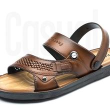 Men Lightweight 2018 Big Size Summer Classic Sandals Solid Color Outdoor Sandals Free Shipping On Sale 174