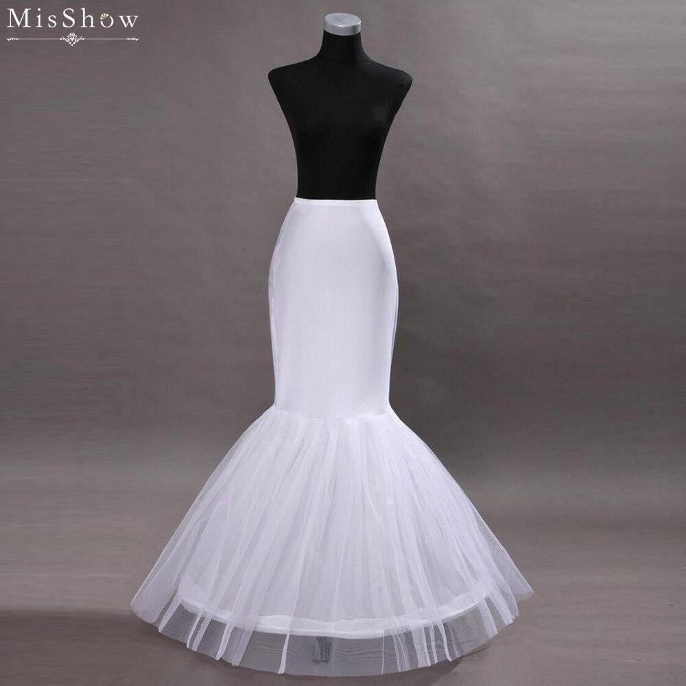 28ec02c1c MisShow 2019 Venta caliente sirena boda enagua Jupon blanco para vestido de  novia Crinoline vestidos ...
