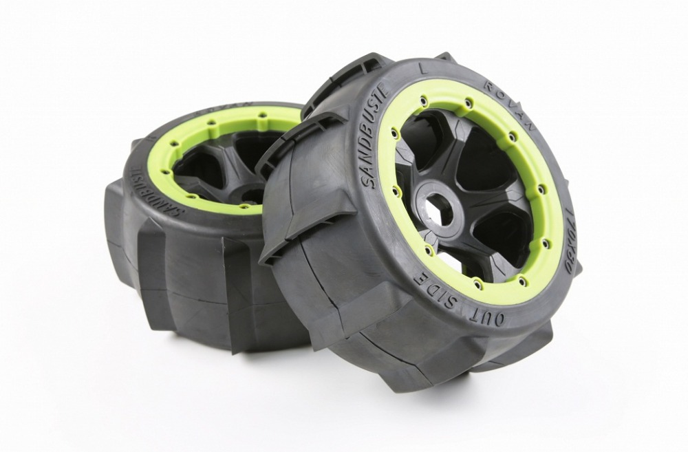 Toys & Hobbies 100% True Rear Sand Tires And Wheel Hub Set For 1/5 Scale Hpi Rovan Km Baja 5b Ss Rc Car Parts Drip-Dry Parts & Accessories