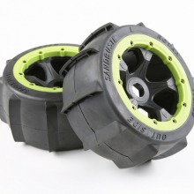 Rear sand tires and wheel hub set  for 1/5 scale HPI rovan KM Baja 5b