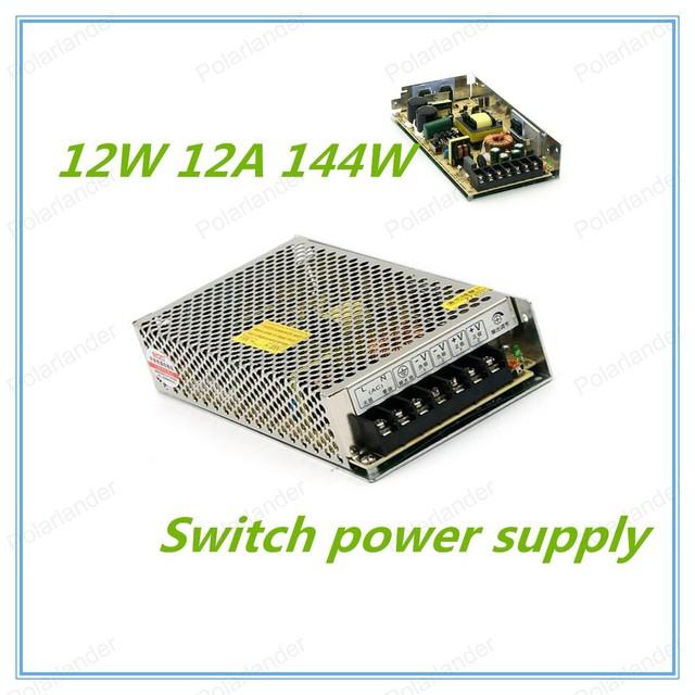 Alta Quality12V 12A 144 W Interruptor de fuente de Alimentación de Conmutación para la cámara de CCTV para el Sistema de Seguridad de 110 V/220 V