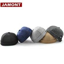 [JAMONT] Ikdienas vīriešu cepures Beanie skullcap cietās kokvilnas pupiņas modes cepure jauna pārnēsājamā kaskete