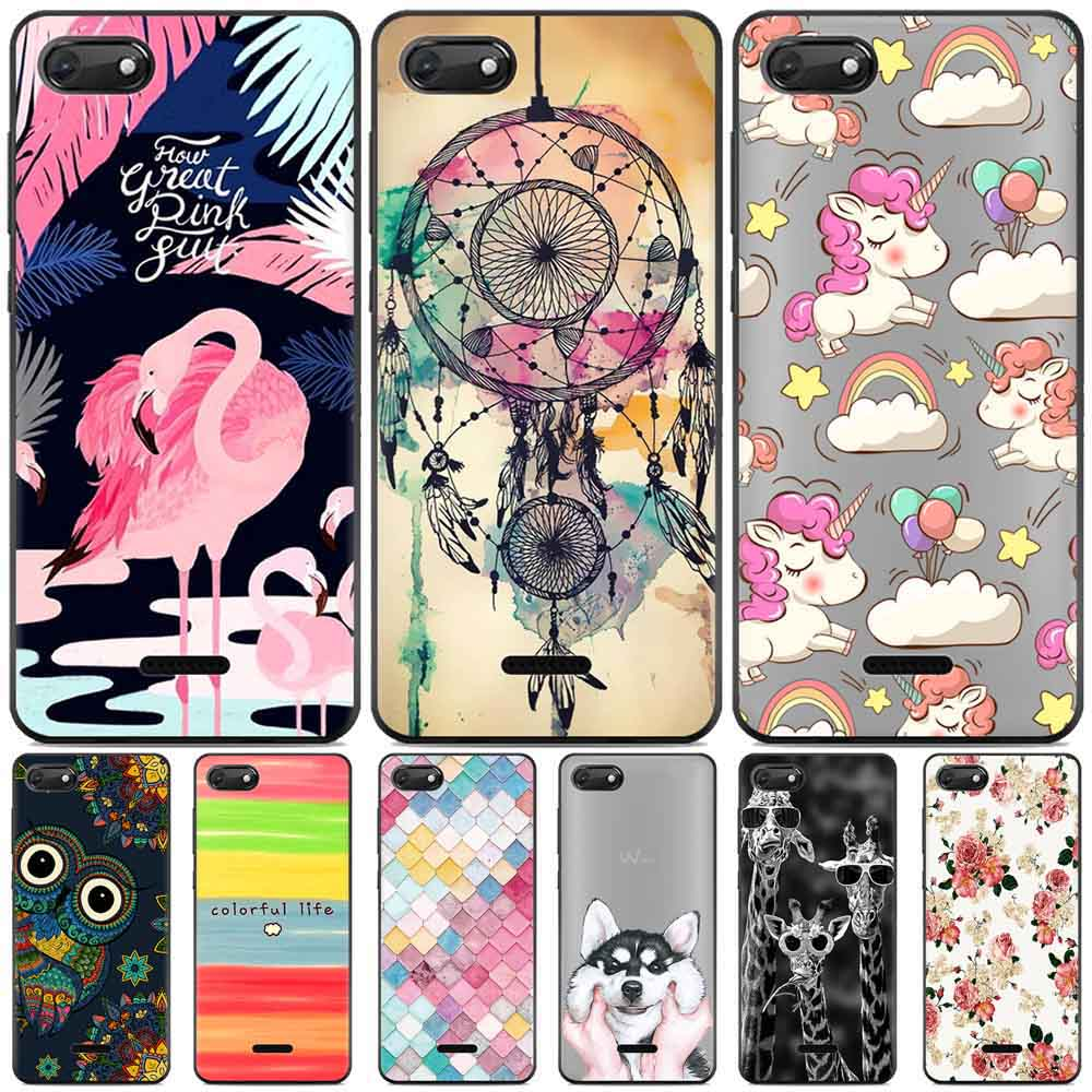 Funda Wiko Harry 2 case Silicone back cover Coque Wiko Sunny 3 case soft TPU cute painting case housse pour Wiko sunny 3 cover
