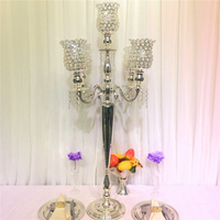 110cm Tall Crystal Wedding Candelabra candle holder Table Centerpiece Wedding Props 10 pcs/lot