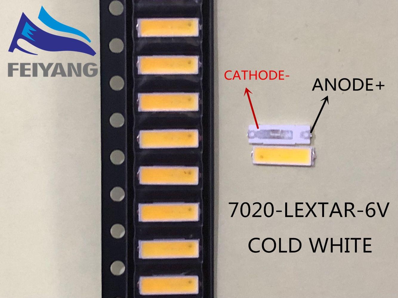1000pcs Lextar Led Backlight Mid Power Led 0.5w 7020 3v Cool White 40lm Lcd Backlight For Tv Tv Application