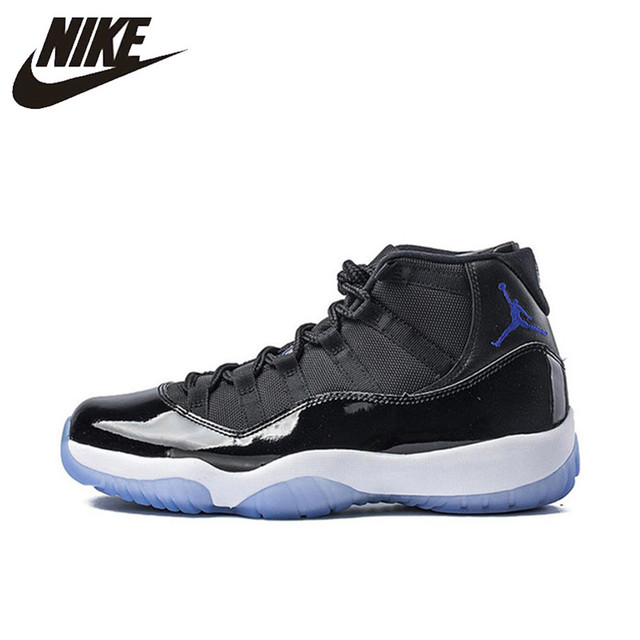 73b44909bd3a Original New Arrival Authentic Nike Air Jordan 11 Space Jam Breathable Men s  Basketball Shoes Sports Sneakers