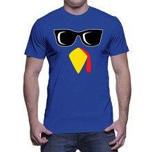 Custom T Shirt Designer O-Neck Men MenS Cool Turkey Face Graphic Short Sleeve Shirts