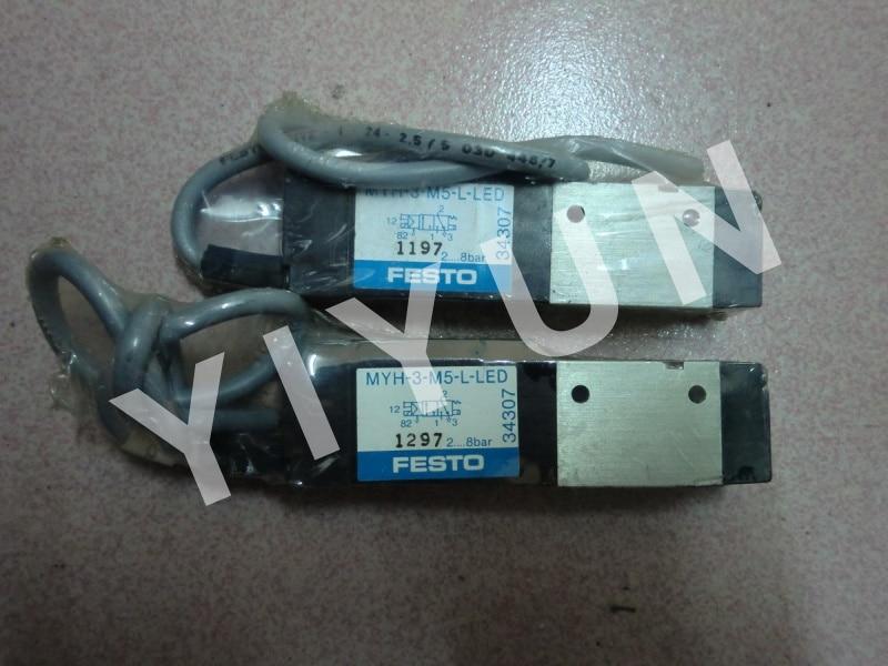 Festo válvula de solenoide de myh-5//2-m5-l-led 34309