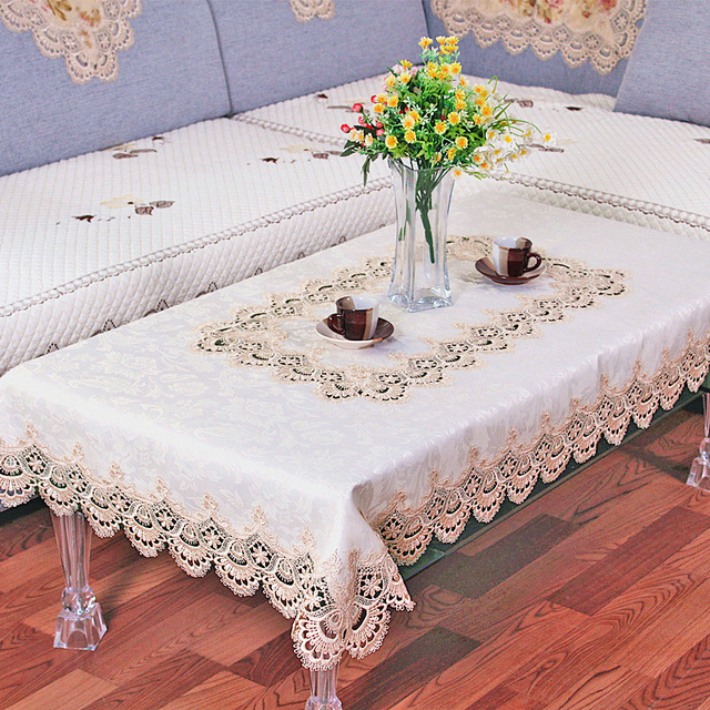 1 Piece Europe Type Waterproof Lace Table Cloth/ Korean Embroidered  Tablecloth/ Modern Household Tea