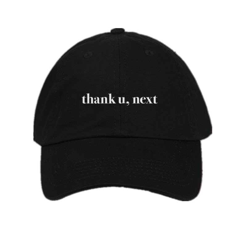 Letter Thank U,Next   Baseball     Caps   Ariana Grande Embroidery Dad Hat Unisex Women Man Hats Latest album Snapback
