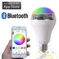 Беспроводная Связь Bluetooth Smart Led спикер лампочки E27 Смартфон App Контролируемых Музыки RGBW Многоцветный Изменение