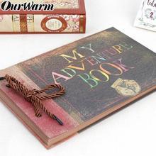 OurWarm 80pages My Adventure Book DIY Handmade Our Adventure Book Scrapbook Photo Album