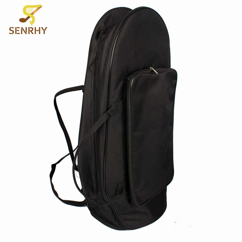SENRHY Protection Bag Case with Strap Special and Simple Black Oxford Cloth Side Zipper Euphonium Instruments  PartsSENRHY Protection Bag Case with Strap Special and Simple Black Oxford Cloth Side Zipper Euphonium Instruments  Parts