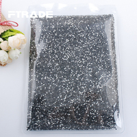 Wholesale SS6 SS10 SS16 SS20 SS30 Crystal Clear Iron On Hot Fix Rhinestones Flat Back Hotfix Crysals Strass For DIY Decoration