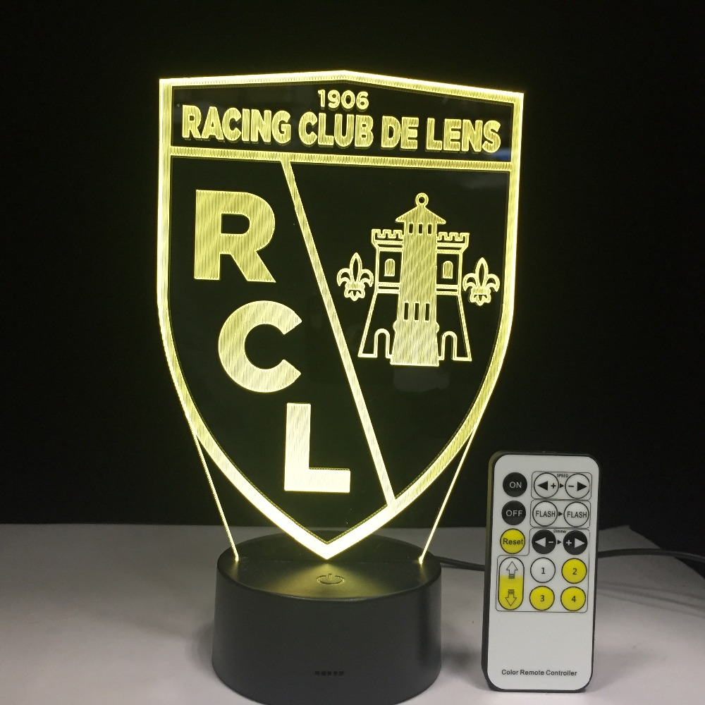 RC Lens LED Light Acrylic Table Nightlight 7 Colors Change with Touch Remote 3D Night Lamp Home Decoration Christmas Gift cartoon cute heart bear shape acrylic led lamp 3d baby night light sleeping lighting 7 colors with touch and remote control