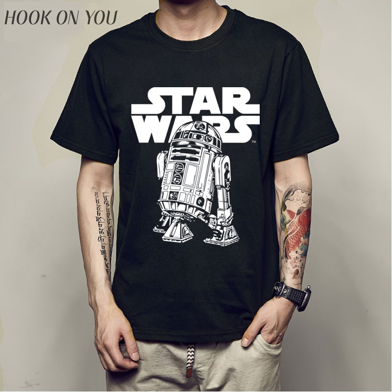 Hot Sale Cartoon Star Wars BB8 robot Men   T     Shirts   2017 New Summer Fashion Casual Cotton   T  -  Shirt   Hip hop Tops Tee camiseta