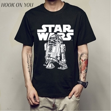 Hot Sale Cartoon Star Wars BB8 robot Men T Shirts 2017 New S