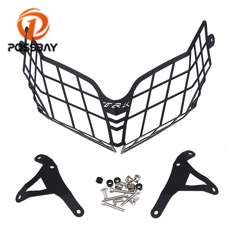 POSSBAY Motorcycle Headlight Guard Protector Grille Cover Fit for <font><b>Benelli</b></font> TRK502 <font><b>TRK</b></font> <font><b>502</b></font> <font><b>Accessories</b></font> Moto Parts image