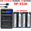 2x bateria NP-F570 NP-F550 NP F550 F570 F530 camera Battery + NP-F530 battery charger for Sony NP-F570 F530 CCD-SC55 CCD-TRV81