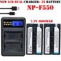 2x bateria f570 f530 np-f570 np-f550 np f550 batería de la cámara + cargador de batería para sony np-f570 f530 ccd-sc55 ccd-trv81 np-f530