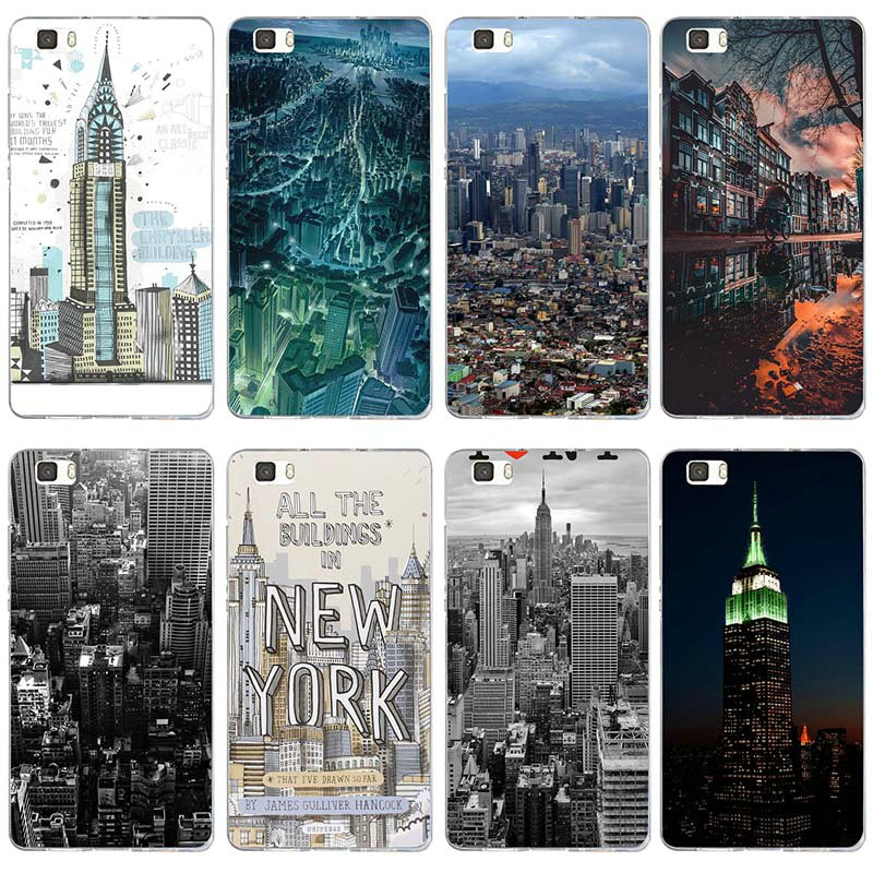 Silicone Soft Cover TPU Phone Cases for Huawei P8 P9 P10 P20 Mate 10 Pro Y5 Y6 II Y7 Honor 6X 7X 9 Lite New York City Building