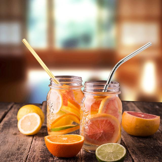 Miljövänliga & återanvändbara sugrör – olika färger.