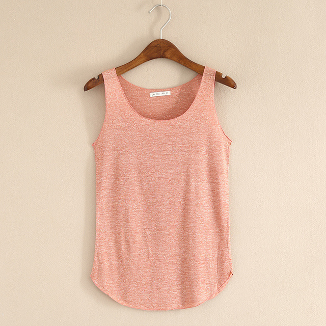 HOT summer Fitness Tank Top New T Shirt Plus Size Loose Model Women T-shirt Cotton O-neck Slim Tops Fashion Woman Clothes 5