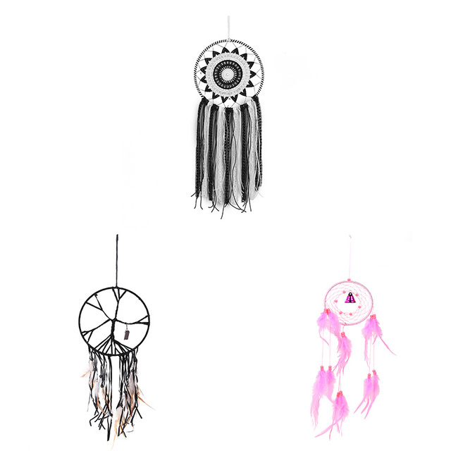 40 Types Black Feather Dream Catcher Feather Beads Car Ornament Black New Different Types Of Dream Catchers And Their Meanings