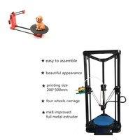 Комбинации распродажа-современный дизайн HE3D K200 delta 3d принтер комплект-Поддержка нескольких материала, добавив HE3D DIY сканер комплект
