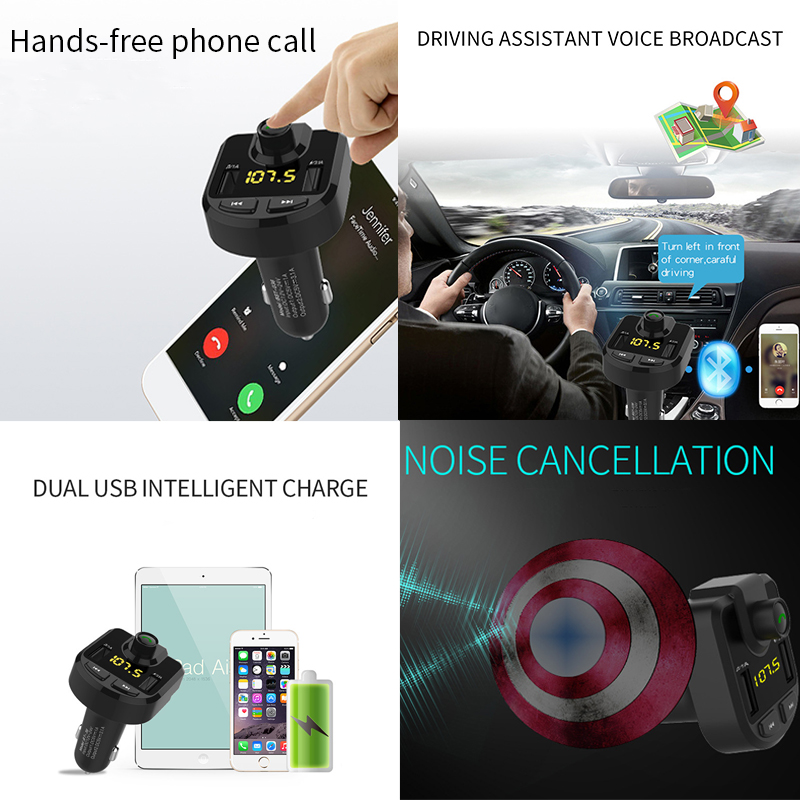 Image 2 - 12V Car MP3 Player Bluetooth USB Music FM Transmitter Handsfree LCD Cigarette Lighter MP3 Auto Charger Voltage Auto Accessories-in Cigarette Lighter from Automobiles & Motorcycles