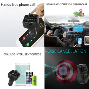 Image 2 - 12V Car MP3 Player Bluetooth USB Music FM Transmitter Handsfree LCD Cigarette Lighter MP3 Auto Charger Voltage Auto Accessories