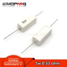 10pcs 5W 0.33 ohm Cement resistance 0.33R 0.33ohm R33ohm 5W-0.33R