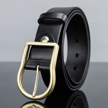 Casual men's genuine leather belt with concise design unique pin buckle&matte high quality of cowskin,leisure jeans belt,durable