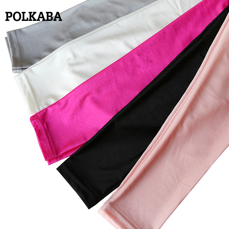 3-9 Autumn Girls Shiny Leggings Slim Luster Pants for Kids Girl Fashion Pencil Pants Kids Clothing Trousers Skinny Pants Legging girl