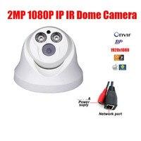 Livraison Gratuite 2MP IP Dôme caméra 2 pcs LED Array 1080 P CMOS HD IP IR Dôme Caméra Infrarouge Night Vision CCTV IP Caméra IP CAM