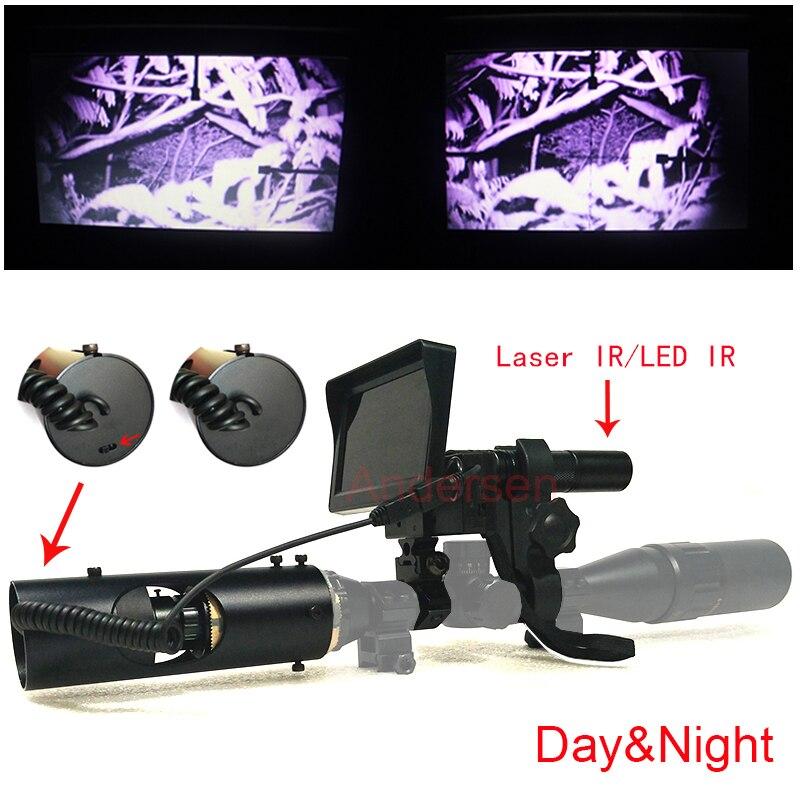 2018 Sniper Zoom extérieur chasse optique monoculaire tactique numérique Laser infrarouge vision nocturne télescope jumelles avec LCD